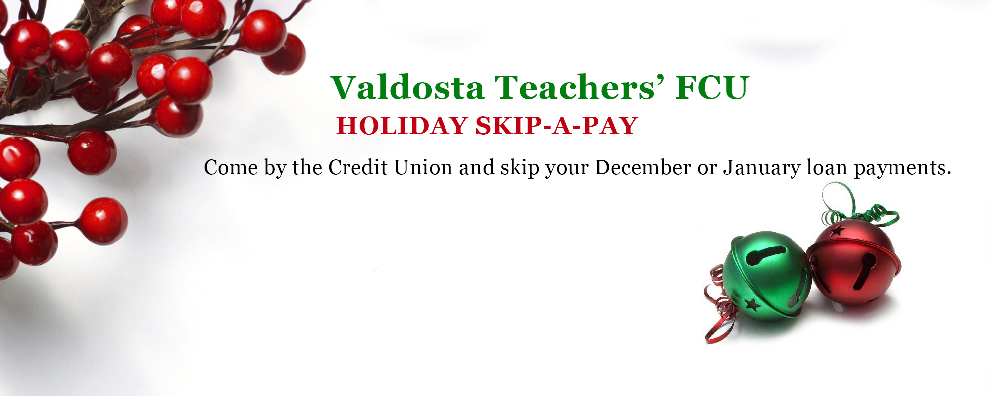 Holiday Skip-A-Pay